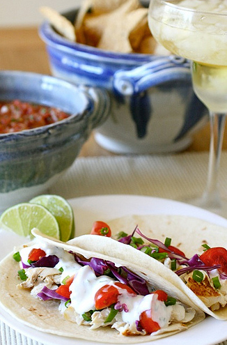 "<strong>Get the <a href=""http://www.annies-eats.com/2010/08/10/white-fish-tacos/"" target=""_blank"">White Fish Tacos</a> recipe"