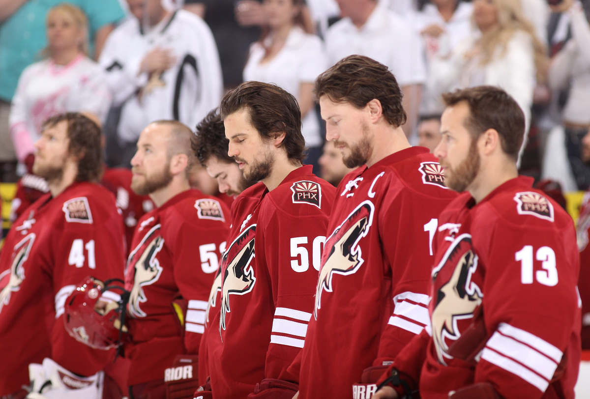 "The Coyotes' 2012 line-up featured several of the <a href=""http://coyotes.nhl.com/"" target=""_blank"">Phoenix Coyotes</a> sport"
