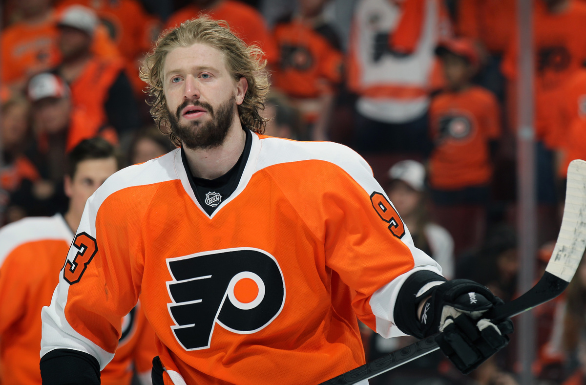"Czech Jake Voráček of the <a href=""http://flyers.nhl.com/"" target=""_blank"">Philadelphia Flyers</a> has this gnarly beard in t"