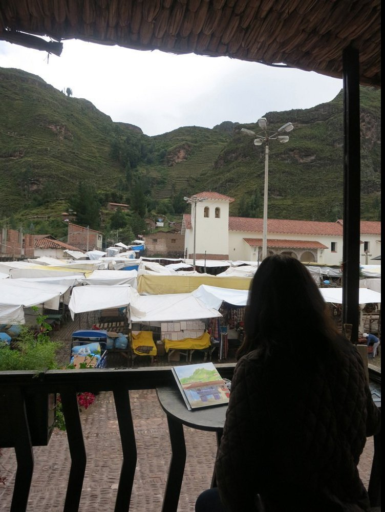 Painting the Market in Pisac Peru