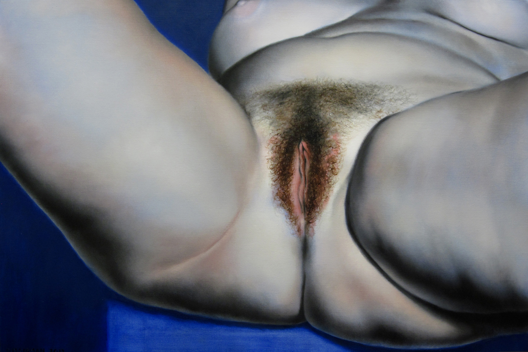 "Daniel Maidman, ""Blue Leah"" oil on canvas"
