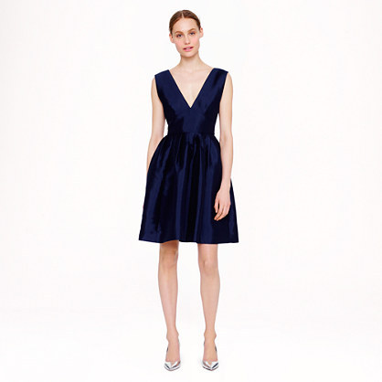 """Pleated twill dress, available at <a href=""""https://www.jcrew.com/womens_category/dresses/jcrewcollection/PRDOVR~A7088/A7088.j"""