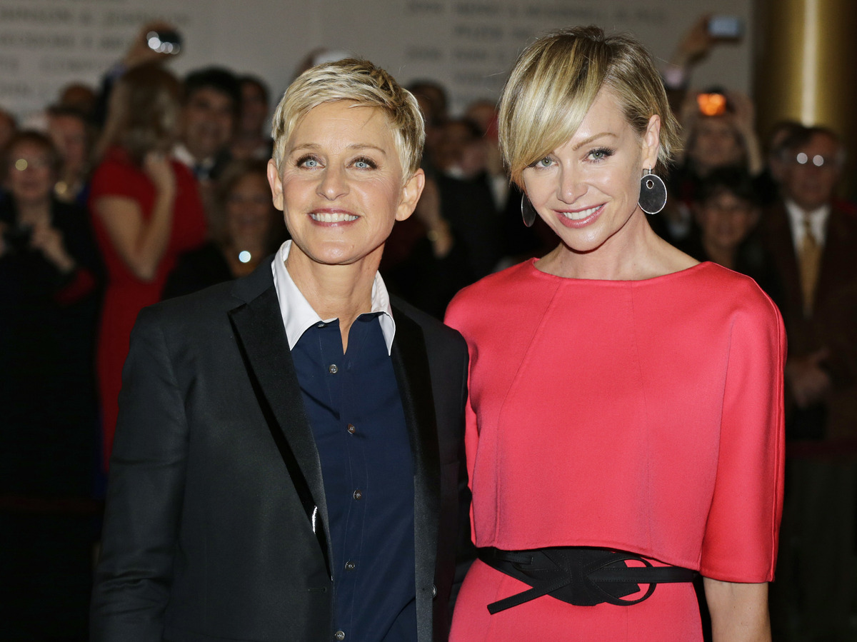 The daytime funny-lady celebrated her 50th year by marrying her longtime love, actress and model Portia DeRossi. DeGeneres pr