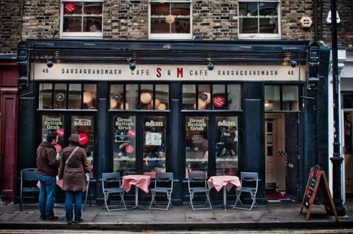 """The S and M in the name of this former chain of British cafés apparently stood for """"search and meet,"""" but S&M really only has"""