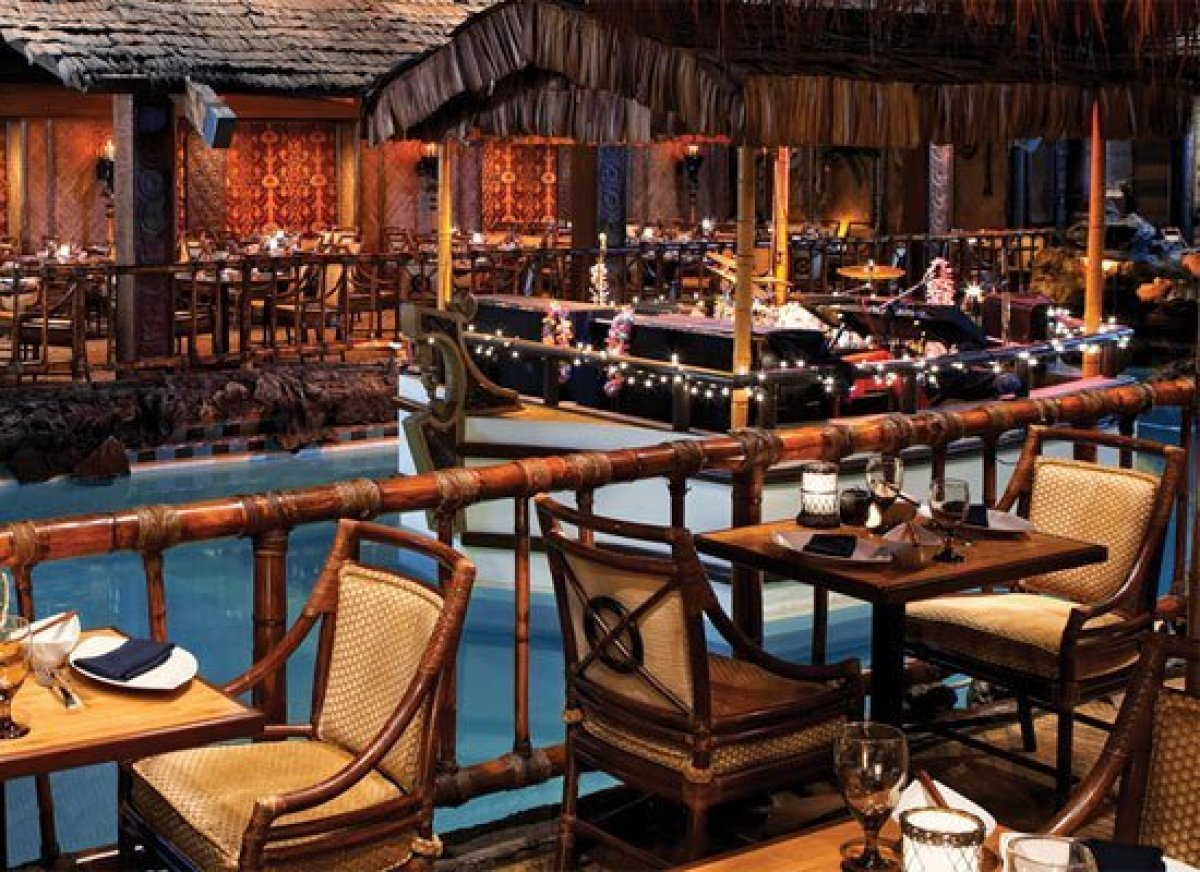 """<a href=""""http://www.tongaroom.com/"""" target=""""_hplink"""">The Tonga Room</a> was opened in the Fairmont Hotel in San Francisco in"""