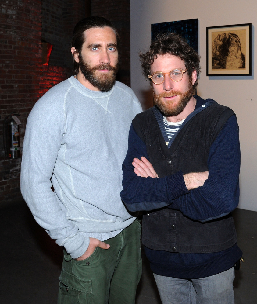 NEW YORK, NY - MAY 04:  Actor Jake Gyllenhaal and Pioneer Works Center for Arts and Innovation, Dustin Yellin attend the firs