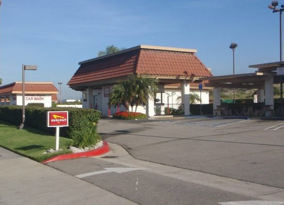 The outpost with no indoor seating in Upland, Calif. is quite possibly the most unique In-N-Out in the country. Staff members