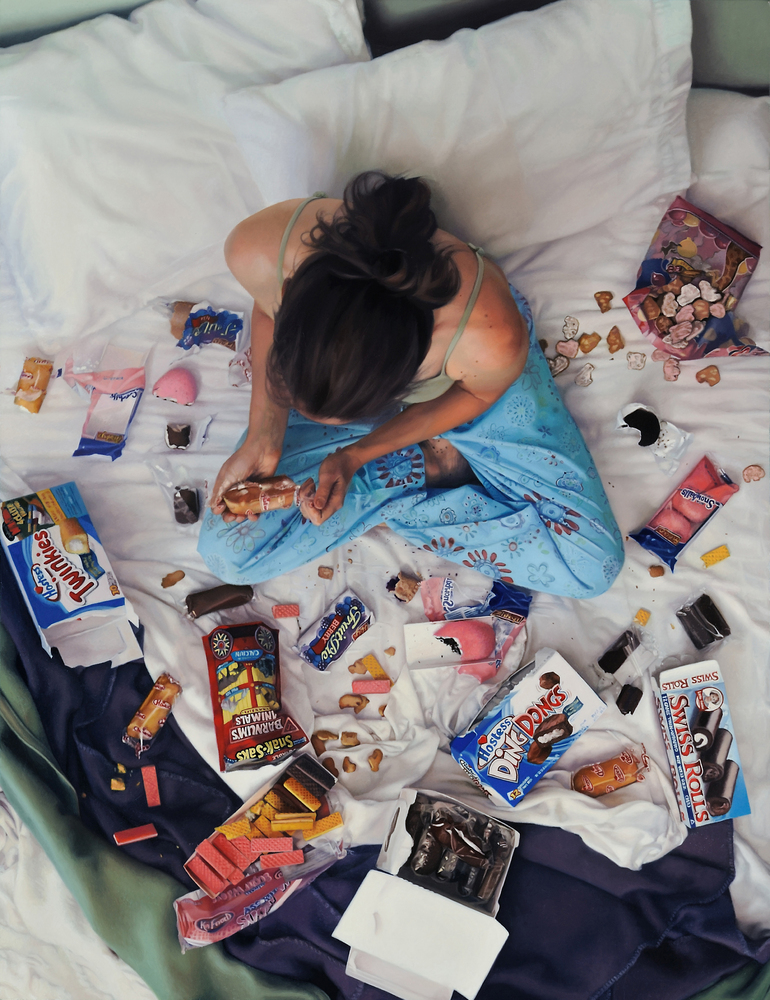 Artist Challenges The Pattern Of Food-Shaming Women With Stunning Nude Self Portraits -3403