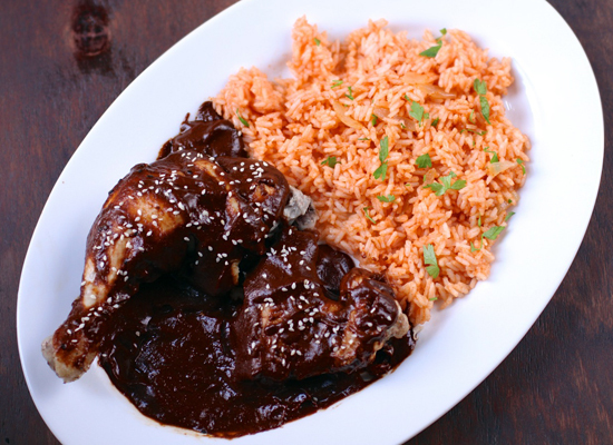 "<strong>Get the <a href=""http://www.thebittenword.com/thebittenword/2012/09/chicken-with-puebla-style-mole-sauce.html"">Chicke"