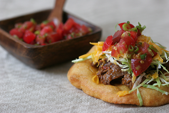 "<strong>Get the <a href=""http://food52.com/recipes/6161-fry-bread-tacos"" target=""_blank"">Fry Bread Tacos recipe</a> by Globet"