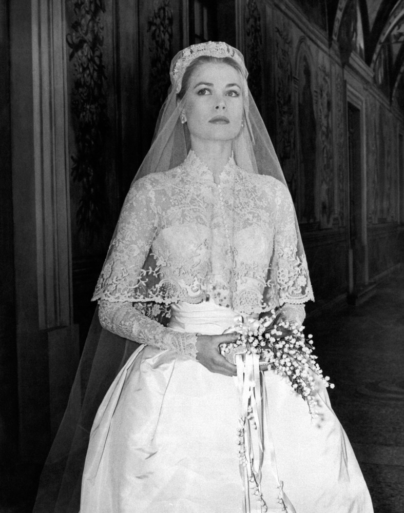 On her wedding day in 1956.
