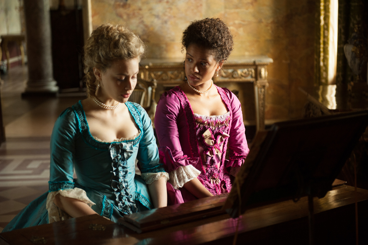 "Directed by Amma Asante, ""Belle"" stars Gugu Mabatha-Raw as the illegitimate daughter of a Royal Navy Admiral. This prestige p"