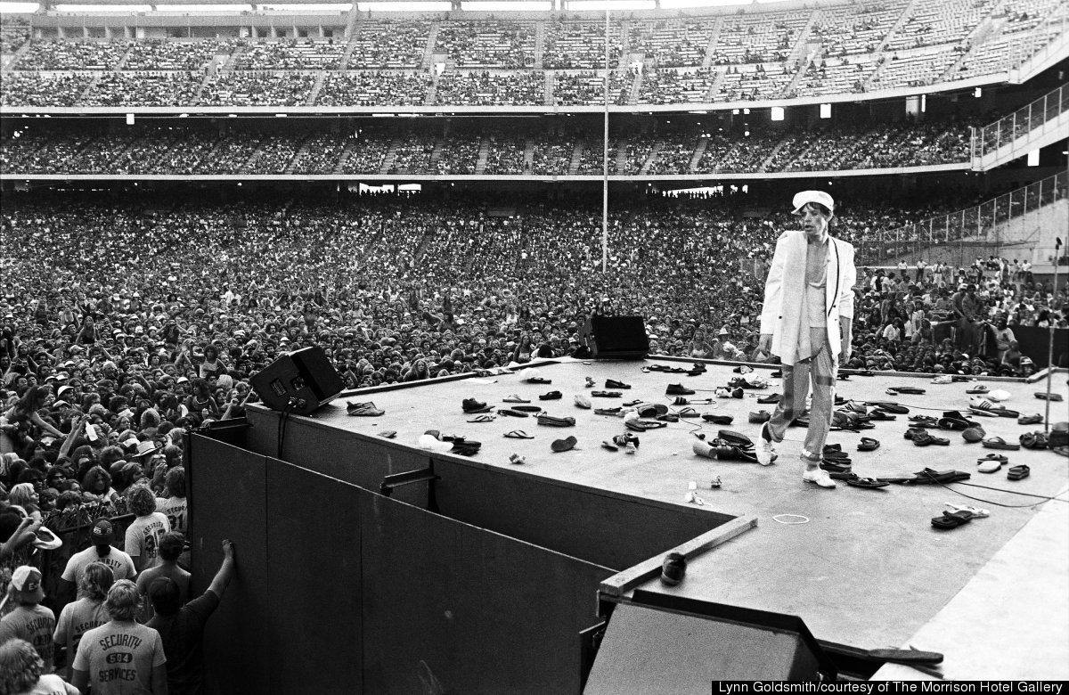 Mick Jagger walking off stage, Anaheim, CA 1978