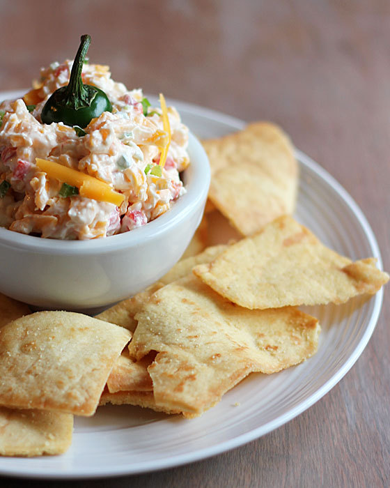 "<strong>Get the <a href=""http://theblondcook.com/2013/10/jalapeno-pimento-cheese/"" target=""_blank"">Jalapeno Pimento Cheese re"