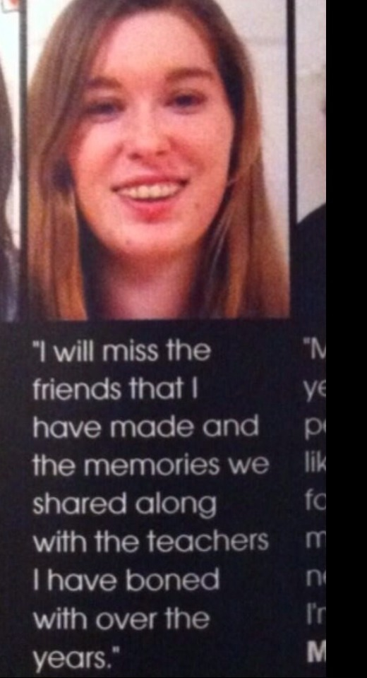 Senior Yearbook Quotes Fair These High Schoolers Got Away With The Most Inappropriate Yearbook