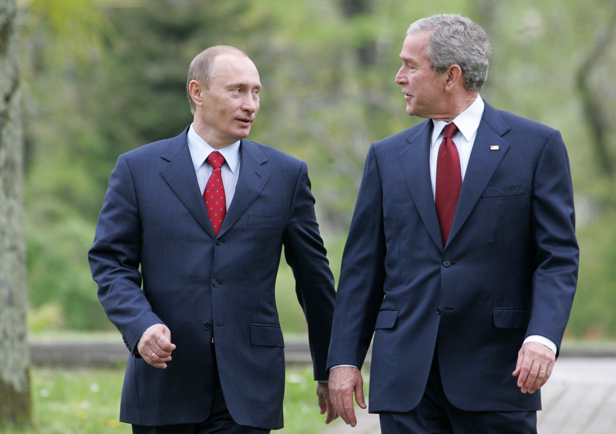 "Former US president <a href=""http://news.bbc.co.uk/2/hi/1392791.stm"" target=""_blank"">in 2001</a>."