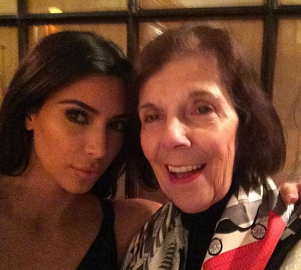 Kim's grandmother MJ is, of course, invited. It's her first time in Paris. We wonder if it will be her first time in Italy as