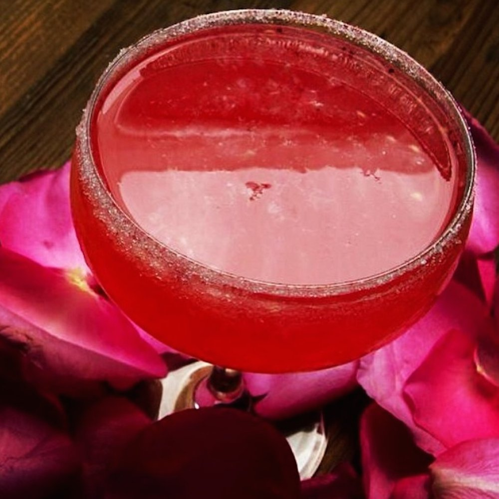 PUMP's signature cocktail, sinfully strong and rimmed with sugar.