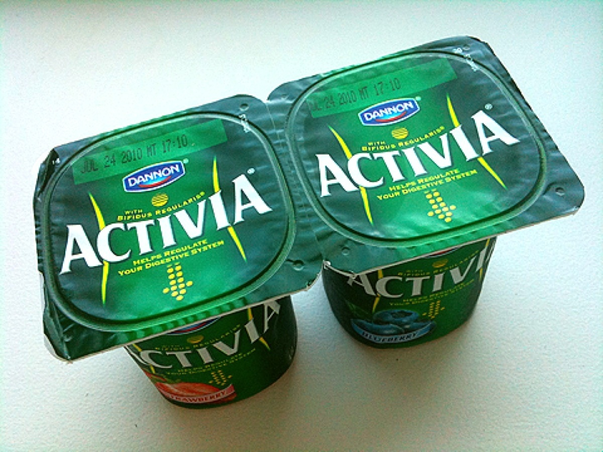 "Activia walks a fine line with <a href=""http://activia.us.com/probiotic-yogurt/Nutrition/activia-blueberry"" target=""_blank"">1"