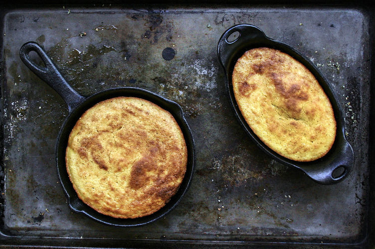 "<strong>Get the <a href=""https://food52.com/recipes/24670-buttermilk-bacon-grease-cornbread"" target=""_blank"">Buttermilk Cornb"