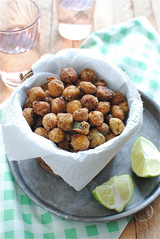 "<strong>Get the <a href=""http://bevcooks.com/2012/09/southern-fried-okra/"" target=""_blank"">Fried Okra recipe</a> from Bev Coo"