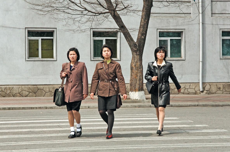 Street scene in Pyongyang.