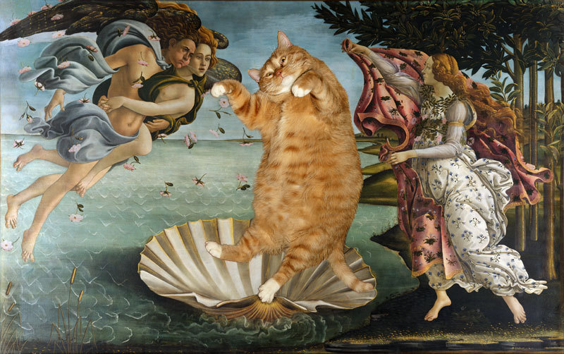 Botticelli's The Birth of Venus, as reimagined by Russian artist Svetlana Petrova