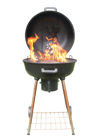 """""""If you are cooking with high heat (as with a steak), keep the barbecue lid open; with low heat (as with slow-cooked meats),"""