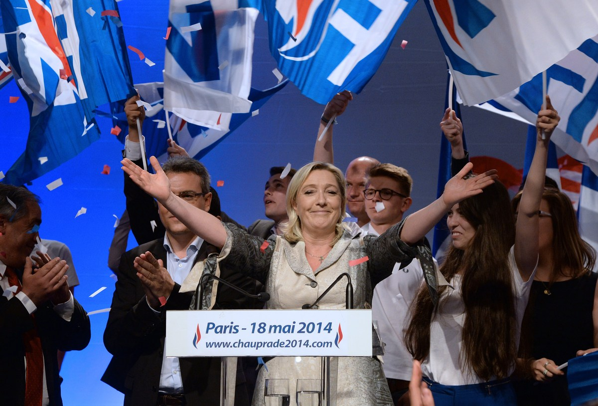Marine Le Pen has had to work hard to de-toxify her fair right party, including censoring her own father and the party's foun