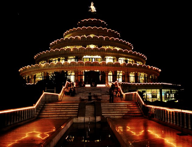 """The <a href=""""http://www.artofliving.org/bangalore-ashram"""">Art of Living International Center</a>, a 65-acre campus located on"""