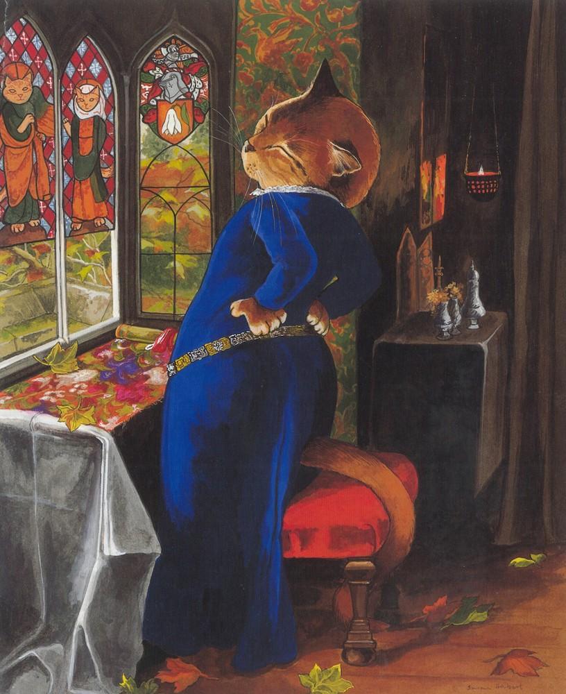 """Mariana, after Sir john Everett Millais (<a href=""""https://www.tate.org.uk/art/artworks/millais-mariana-t07553"""" target=""""_blank"""