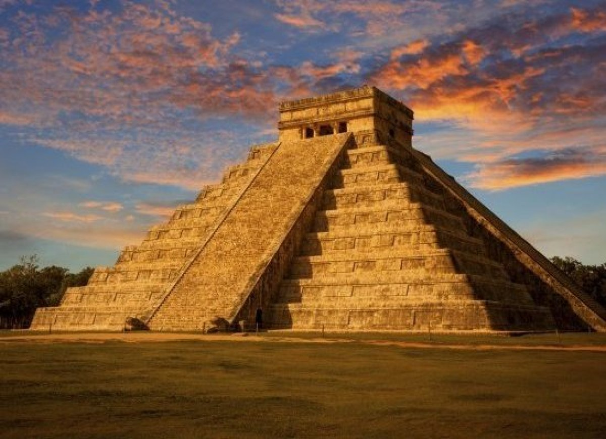Pre-Hispanic City of Chichen-Itza <br> One of the most important Mayan sacred sites in the Yucatán peninsula before the inv