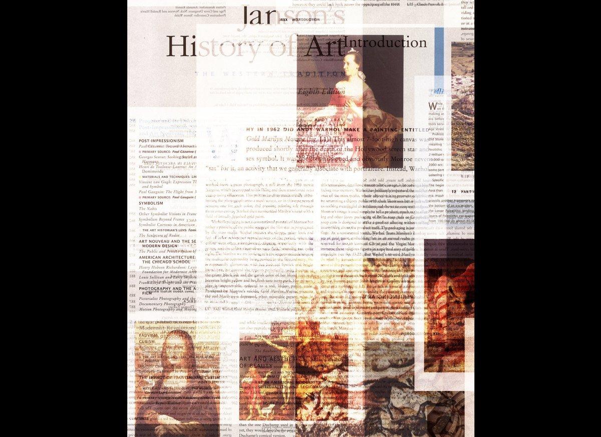 Dean Kessmann, <em>A Layered History of Art:  From Semitransparent to Opaque</em> (2014), detail