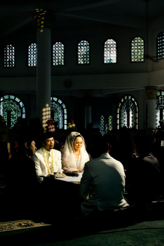 Muslim weddings can be held at mosques, a place of worship for Islam followers. However, many couples also decide to hold the