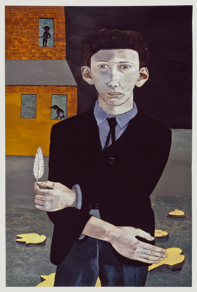 Man with a Feather (Self-portrait), 1943