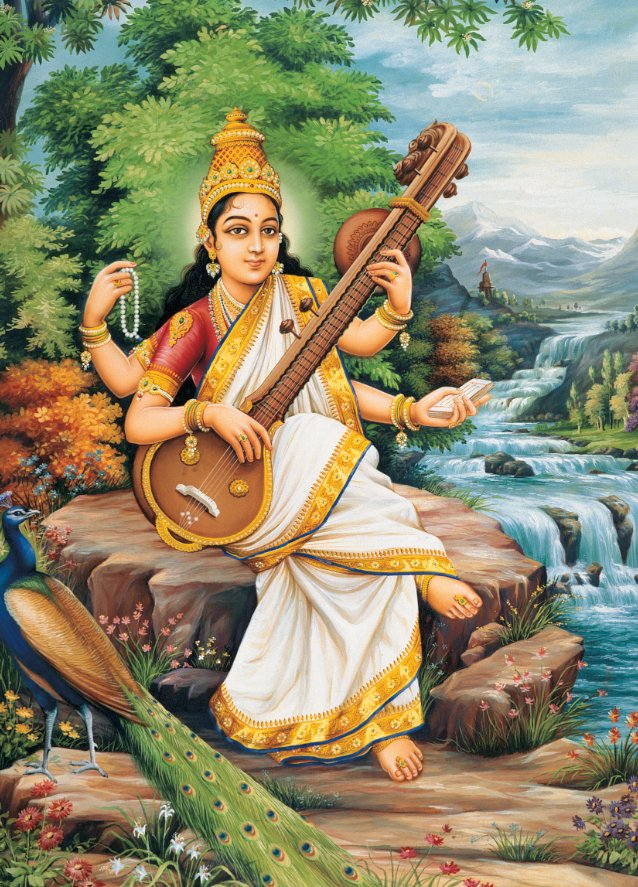 """The goddess Saraswati is primarily known as the giver of knowledge. But she is actually much more than that. Another of her"