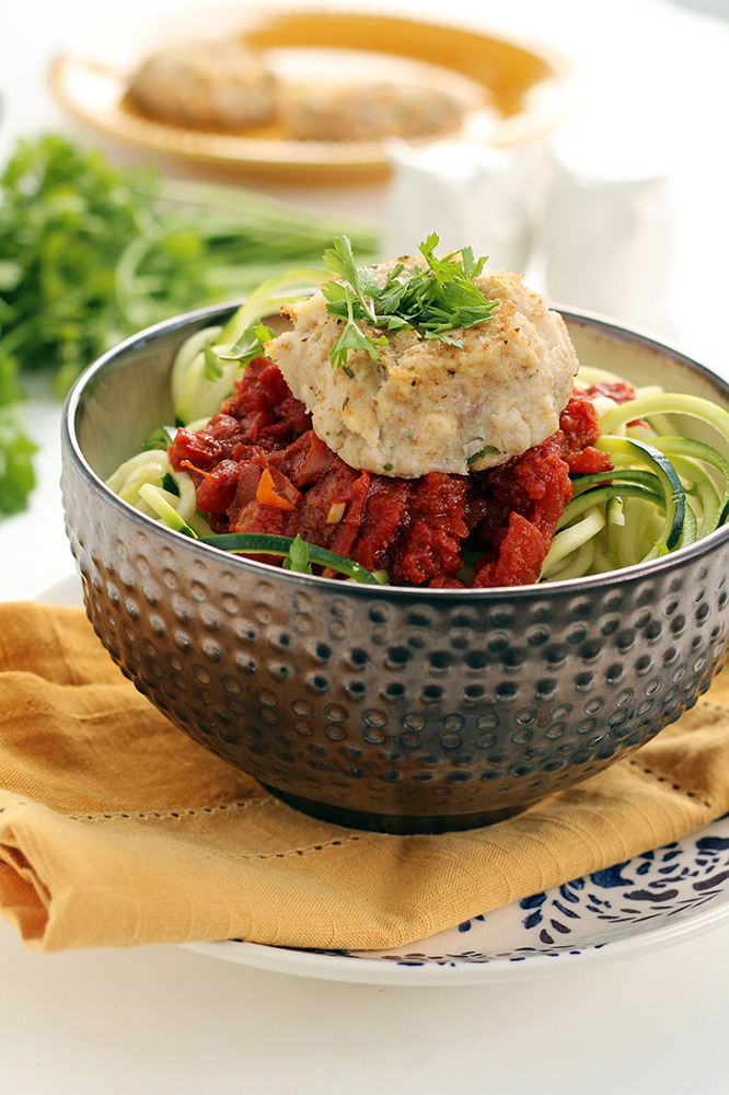 "<a href=""http://www.inspiralized.com/2014/03/27/cauliflower-feta-meatballs-with-spicy-moroccan-tomato-zucchini-noodles/"" targ"