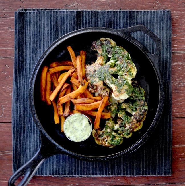 "<a href=""http://culinarybrodown.com/2014/06/chimichurri-cauliflower-steak-my-sincere-thoughts-on-veganism/"" target=""_blank"">G"
