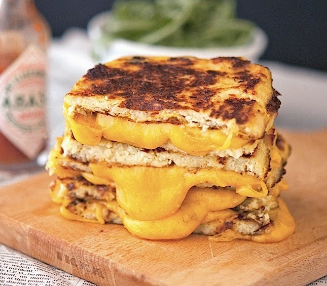 """<a href=""""http://www.theironyou.com/2014/05/cauliflower-crust-grilled-cheese.html"""" target=""""_blank"""">Get the recipe from The Iro"""