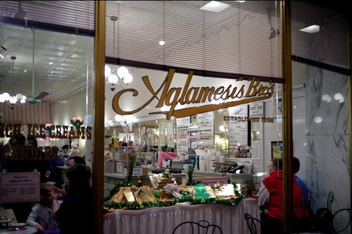 The Aglamesis family has been making and selling ice cream to Cincinnati since 1908. You can still stop by their Oakley Squar