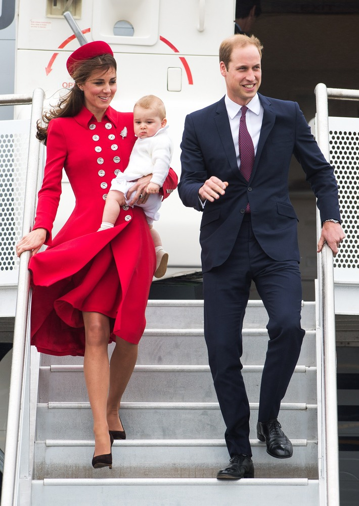 When he arrived at Wellington Airport in New Zealand for the royal family's three-week tour of Australia and New Zealand. Wit