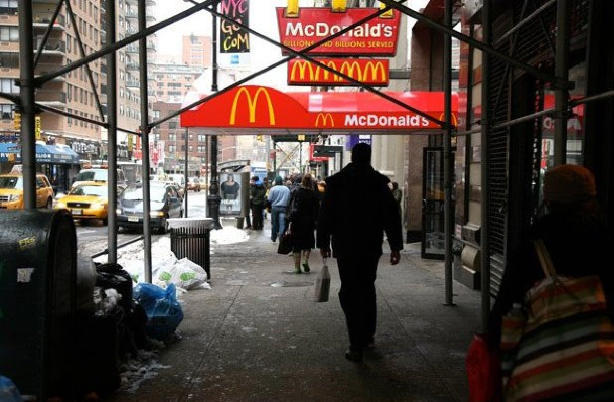 New York State has 767 McDonald's locations. New York is the fourth least obese state in the United States and has an obesity