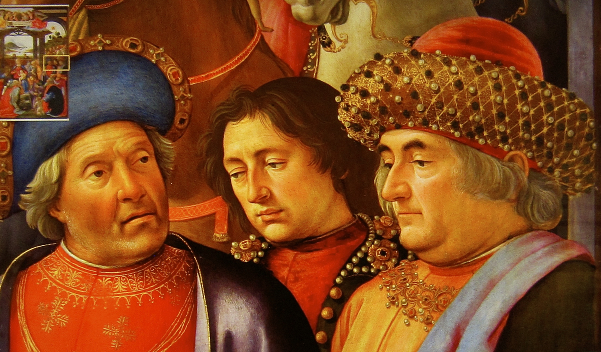 Lisa's husband Francesco del Giocondo, a silk merchant like these men painted by Ghirlandaio, inherited the nickname of his g
