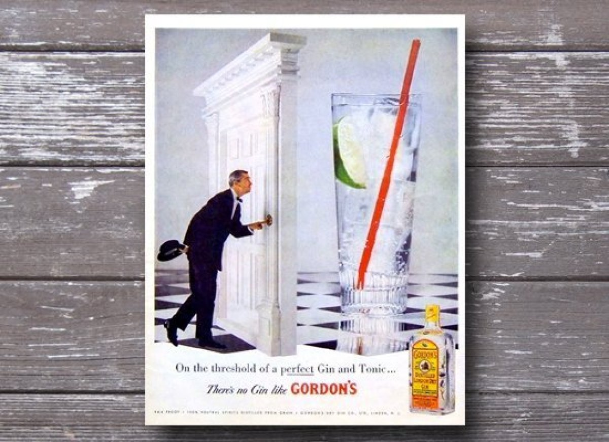Gordon's Gin is a classic in its own right. We've seen dozens of vintage advertisements featuring various of the brand's expr