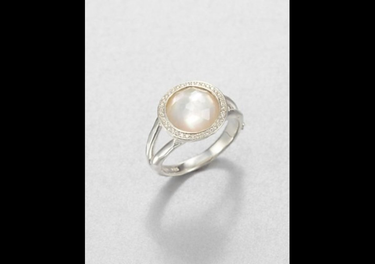 pretty pearl engagement rings for brides born in june - Pearl Wedding Rings