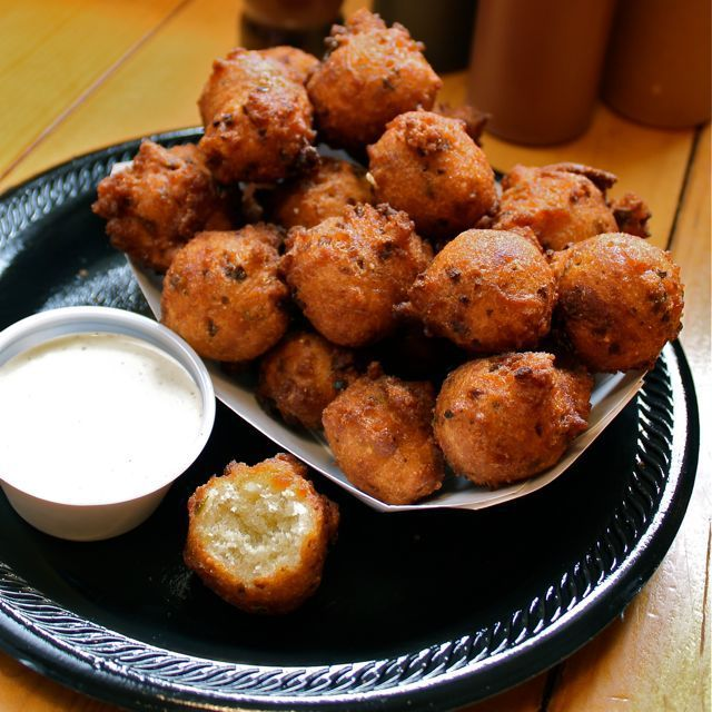 "<strong>Get the <a href=""http://www.aspicyperspective.com/2011/03/okie-dokie-smokehouses-jalapeno-hushpuppies-red-slaw.html"""