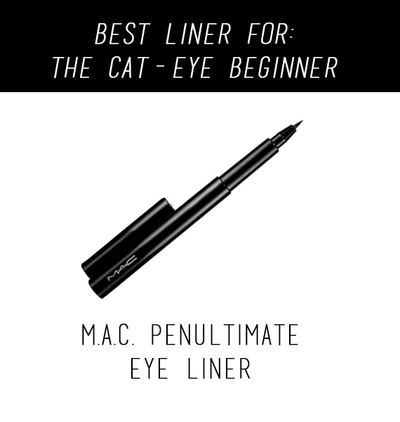 It might sound crazy to list a M.A.C. product for beginners, but the precision and color that this liner provides will make a