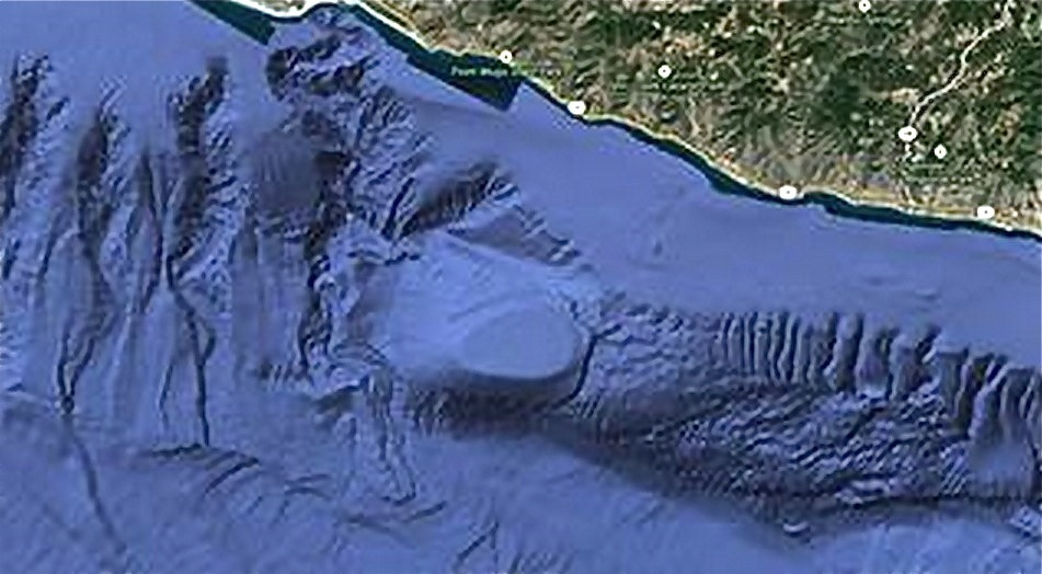 Approximately six miles off the coast of Malibu, California, an unusual-looking structure sits on the sea bed floor at the fo