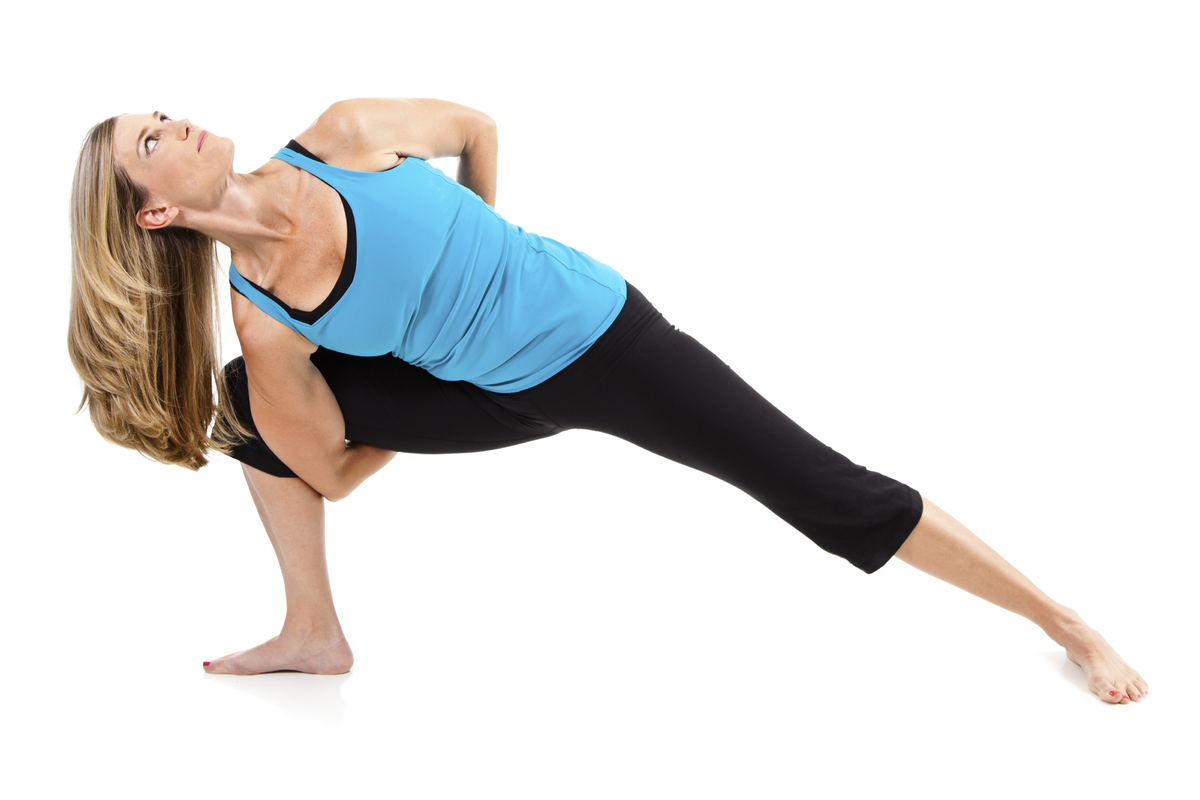 From the low lunge position, twist your torso toward the front leg, putting one palm on the ground and the other hand on the