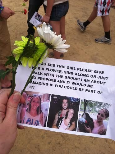"""""""With the group that I met [on Reddit], we start to hand out flowers and this flyer."""""""